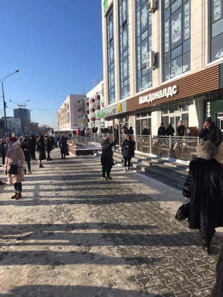 Эвакуация из торгового центра ЦУМ