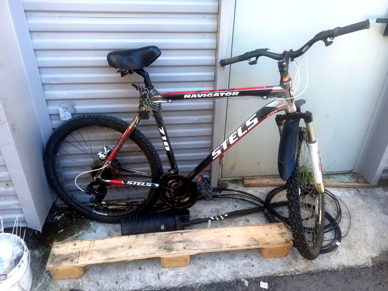 Велосипед на котором приехал злоумышленник